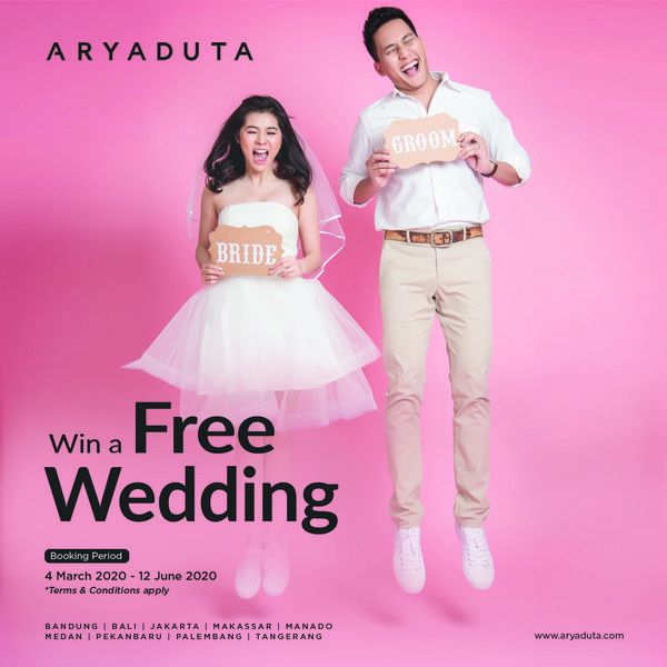 Celebrate Your Wedding for Free at Aryaduta