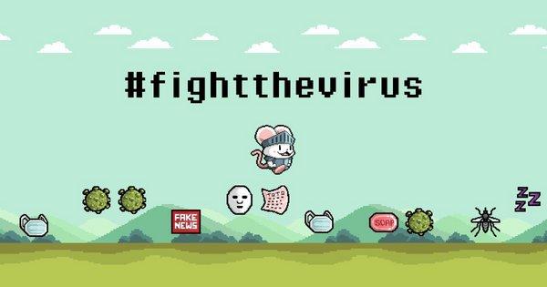 Main poster for Sqkii's latest online game, #FightTheVirus