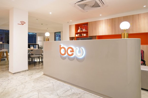 The frontdesk of BeU Hotel.