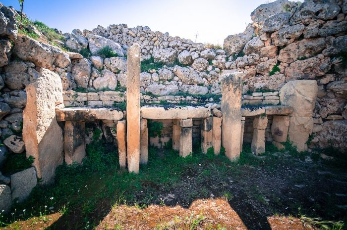 Megalithic Temples complex on Gozo in Malta by Bs0u10e01 via Wikipedia CC