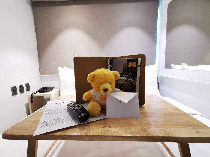 Welcome Kit at The Mini Suites Eton Tower Makati