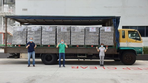Yeo's is delivering 75,000 cans of H2O to the Alliance of Guest Workers' Outreach and 120,000 cans of nutrition drinks to migrant workers receiving treatment at hospitals in Singapore to show support and care. The first batches of drinks have been delivered to the Singapore General Hospital and Bright Vision Hospital. This is the latest effort from Yeo's to support the Singapore community after delivering nutrition drinks to five public hospitals in February 2020.
