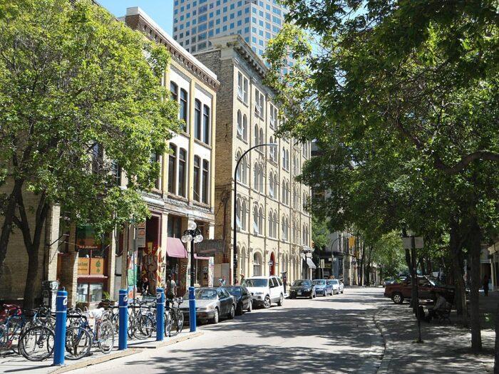 Albert Street, in the Exchange District by Interlaker via Wkipedia CC