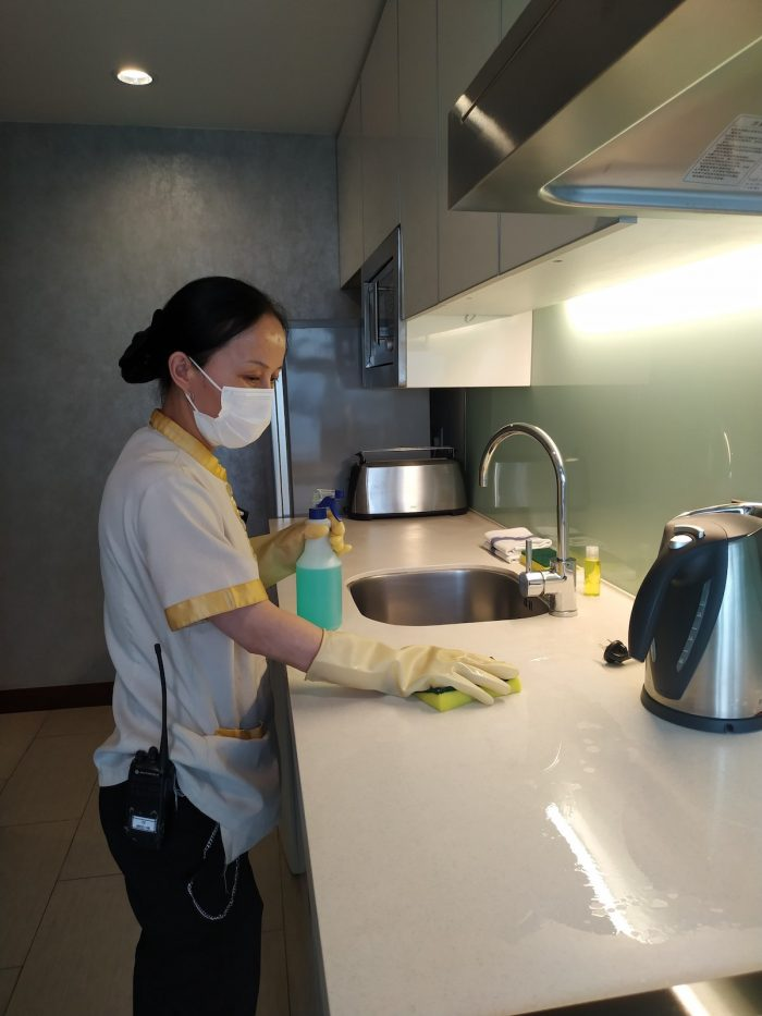 Through 'Ascott Cares', Ascott is committed to elevate cleaning protocols with increased sanitisation of high-touch areas such as kitchen cabinet, door handles, wardrobe, TV remote controls and light switches. Masks and hand sanitisers will be available in the units for guests' use.