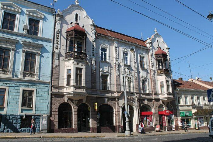 Beautiful Buildings in Chernivtsi photo by Bukovynka via Wikipedia CC
