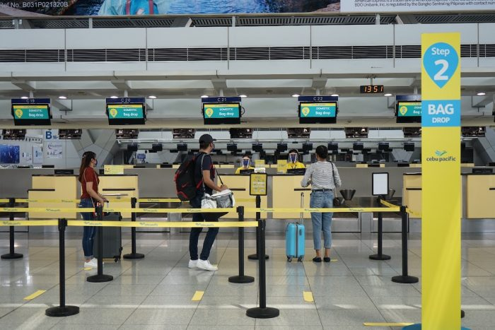 Cebu Pacific New Normal Check-in Physical Distancing