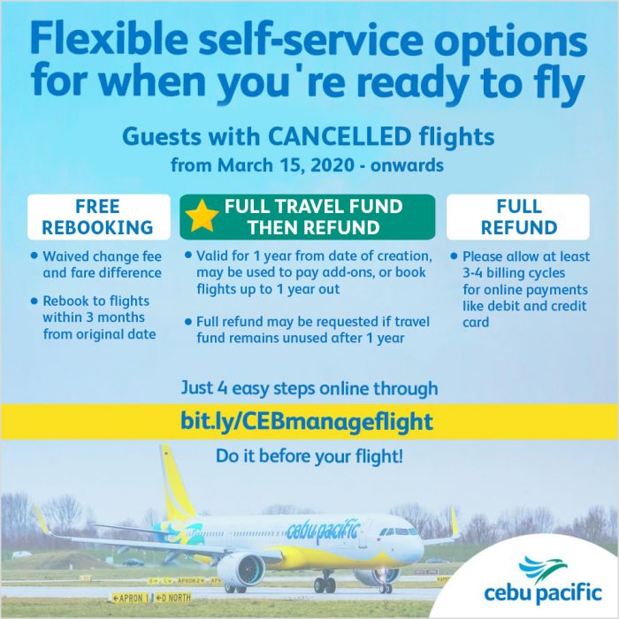 Cebu Pacific offers flexible options for all travelers