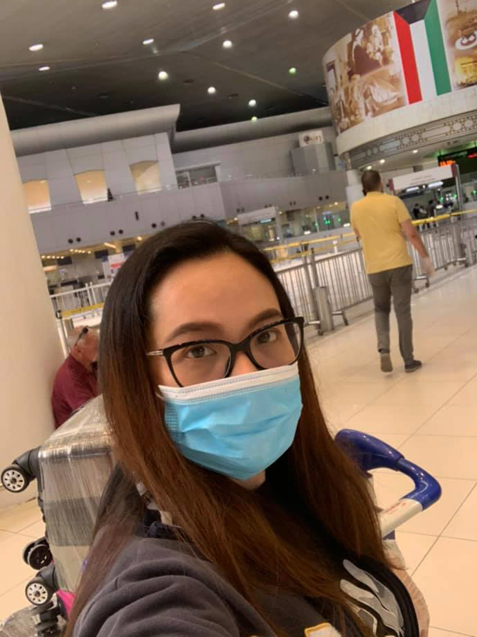 Checking in at Kuwait Airport
