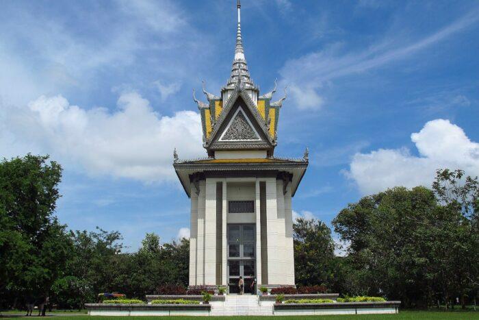 Choeung Ek Stupa in Cambodia by Timgray200 via Wikipedia CC