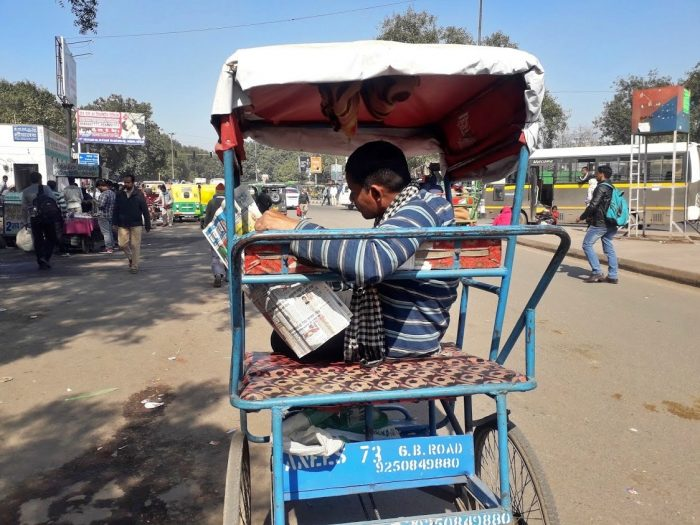 Cycle rickshaw in Delhi