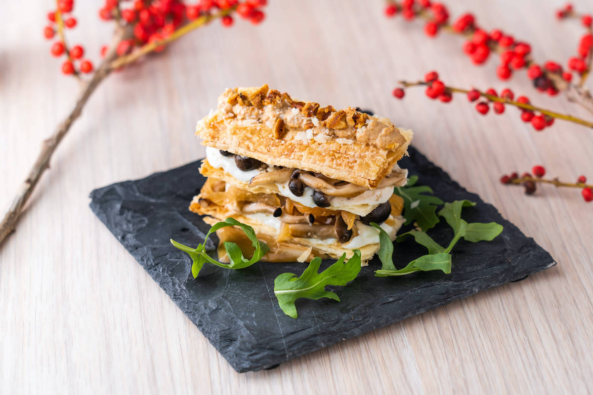 Mushroom Beauty - Shimeji Mushroom and Walnut in Puff Pastry