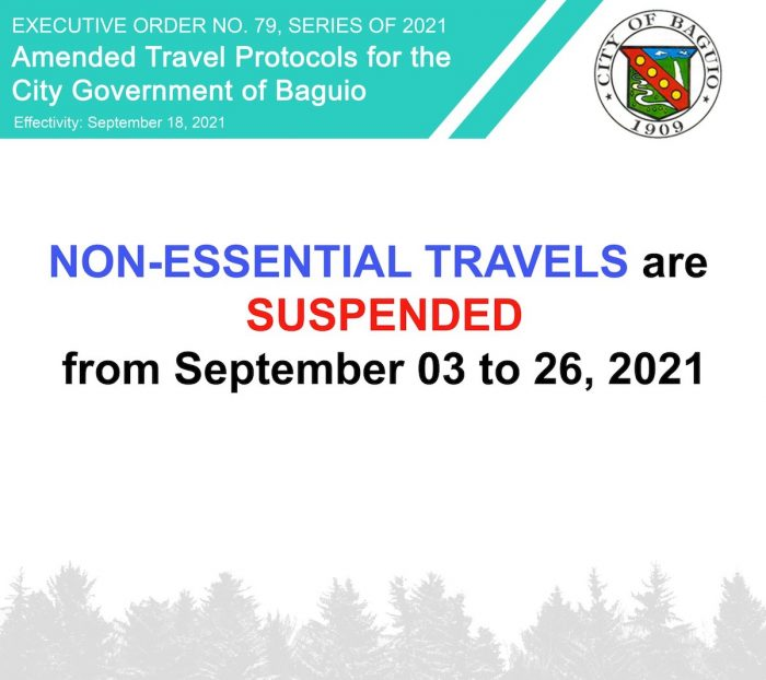 Non-Essential Travel Baguio City September 2021