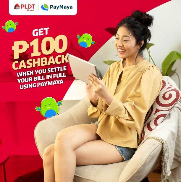 Earn Cashback when you pay your PLDT Home bill via PayMaya