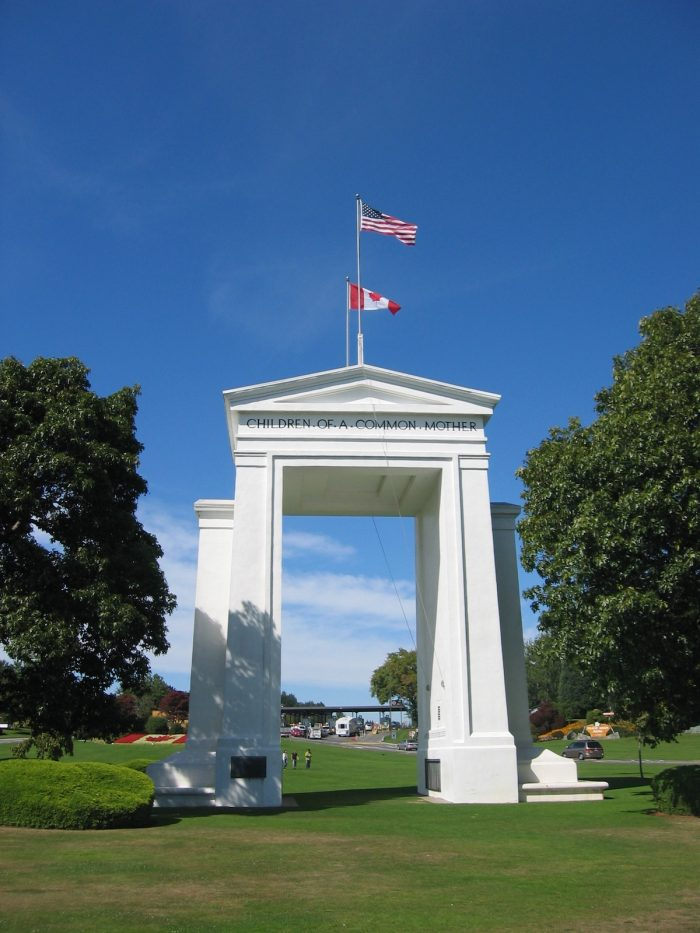Peace Arch located between USA and Canada