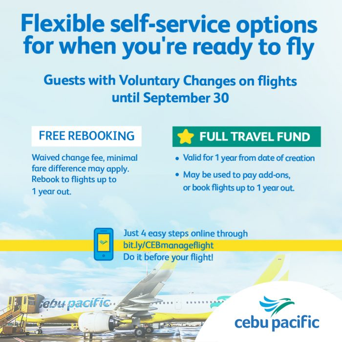 Voluntary Change Pax Options UNTIL SEPT 30