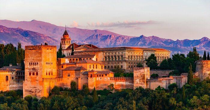 Alhambra Palace Sunset