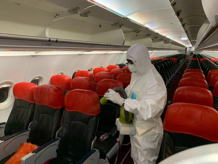 All AirAsia aircraft undergo disinfection before and after each recovery flight.