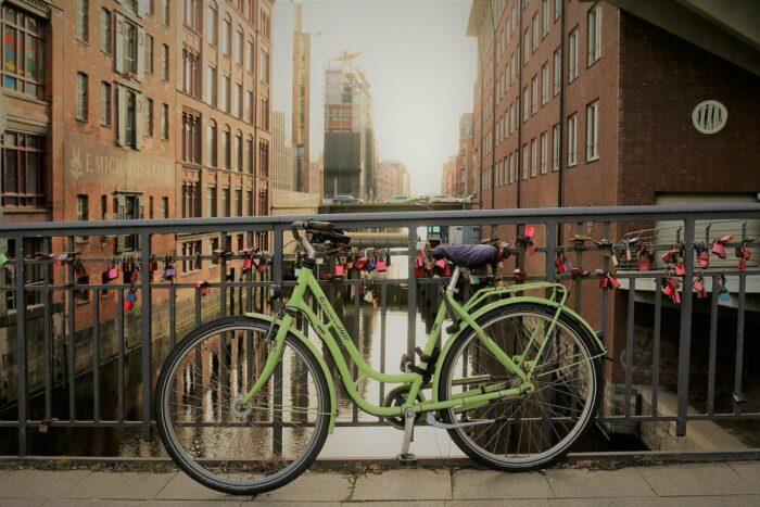 Biking in Hamburg