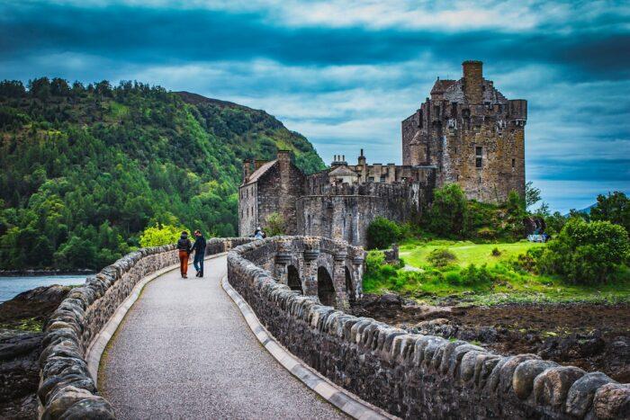 Eilean Donan Castle in Scotland by Crawford Jolly via Unsplash