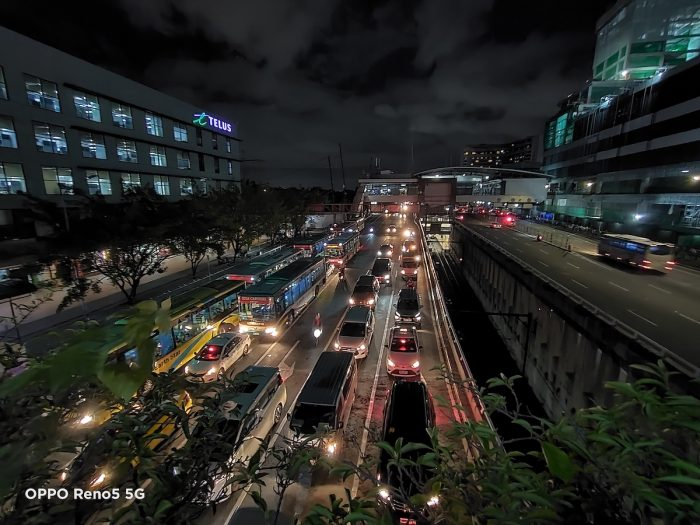 Even without streetlamps, the city is aglow thanks to the hustle and bustle of the daily commute.