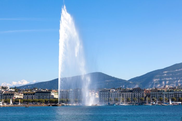 Geneva water fountain photo via Depositphotos