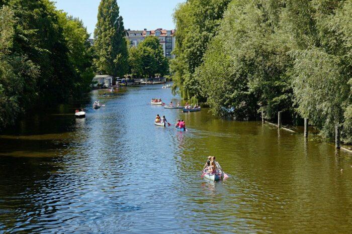 Hamburg canoe ride