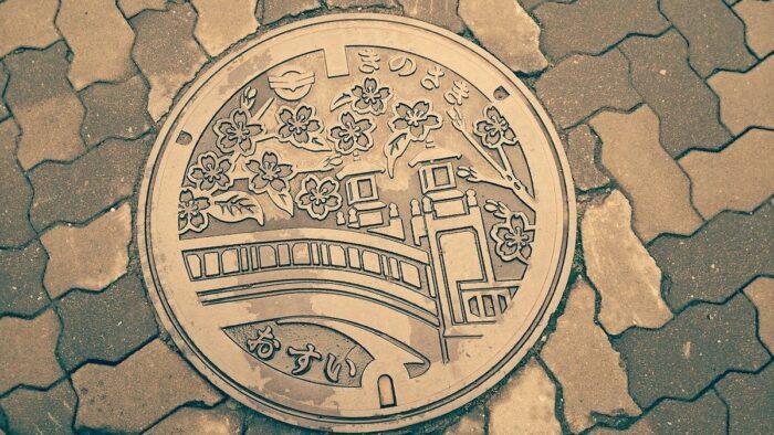 Manhole design in Kinosaki Japan
