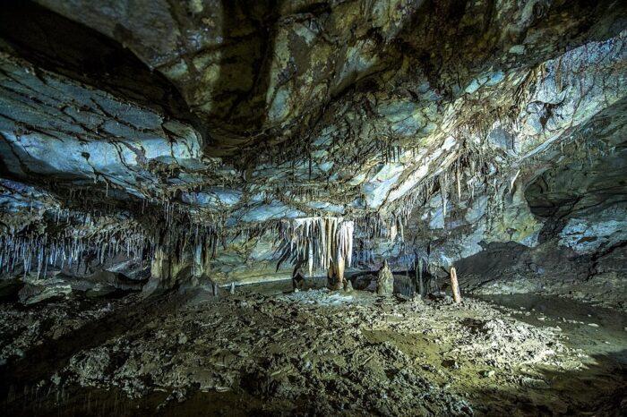 Marble Cave by Arben Llapashtica via Wikipedia CC