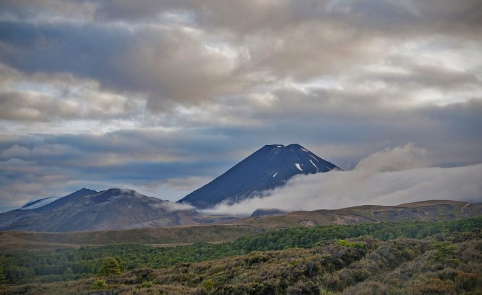 Mount Ngauruhoe viewed from our hotel balcony. This is Mount Doom in Lord of the Rings fame