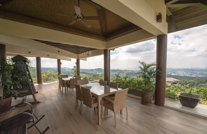 Rates include a hearty breakfast which is served on the front deck of the house