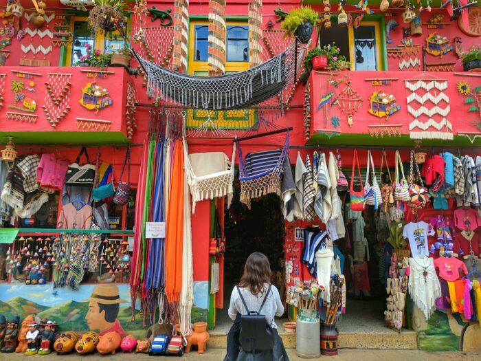 Souvenir Shops in Raquira Colombia by Michael Baron via Unsplash