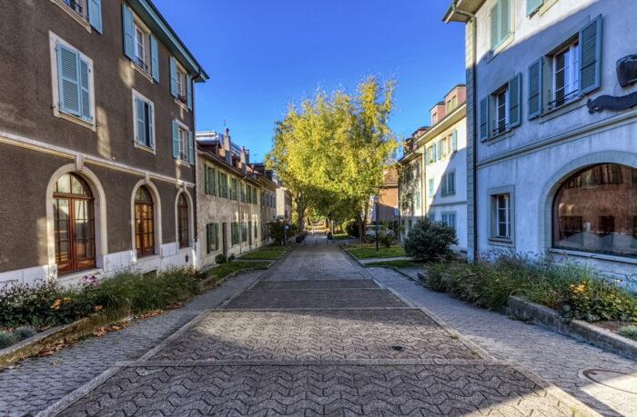 Street in old Carouge city, Geneva, Switzerland via Depositphotos