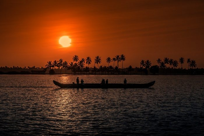Sunset in Kerala