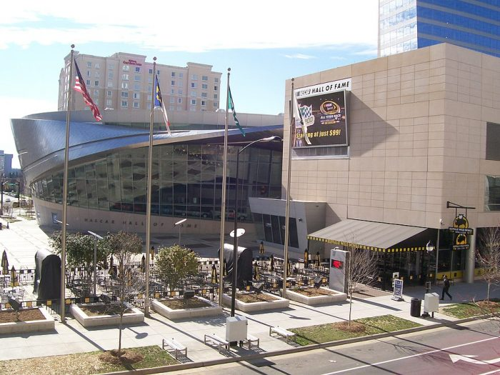The NASCAR Hall of Fame by Groupuscule via Wikipedia CC