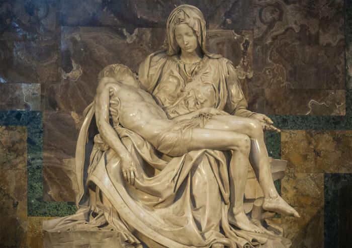 The Pieta masterpiece.