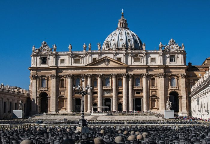 You can appreciate the scale of the Basilica to the size of the crowd standing in front of it.