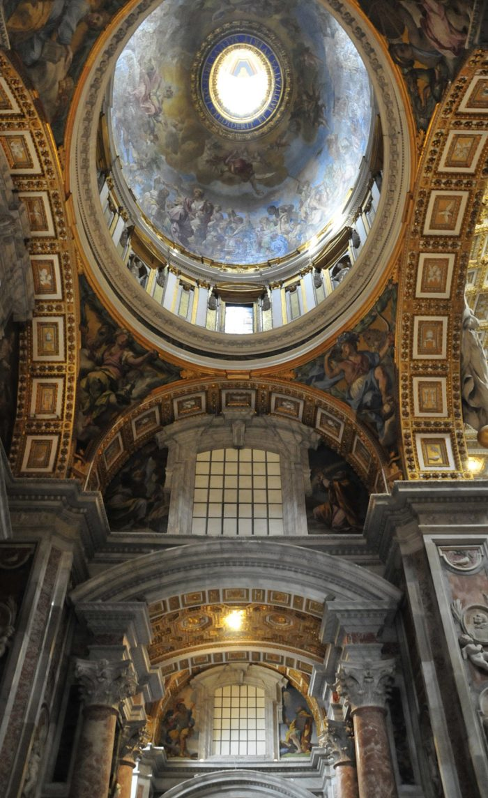 Home.fit You-have-to-crane-your-neck-up-very-often-to-see-and-appreciate-the-beauty-of-the-ceiling.-700x1144 Europe Visita Iglesia #7: St. Peter's Basilica in Rome, Italy