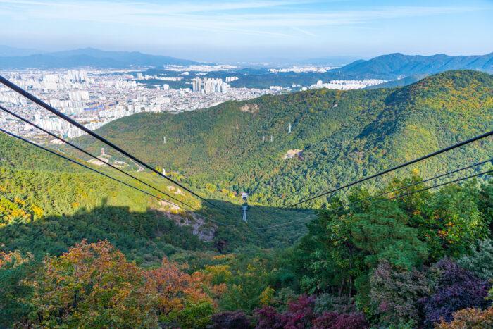 Aerial view of Daegu from Apsan mountain photo via Depositphotos.com