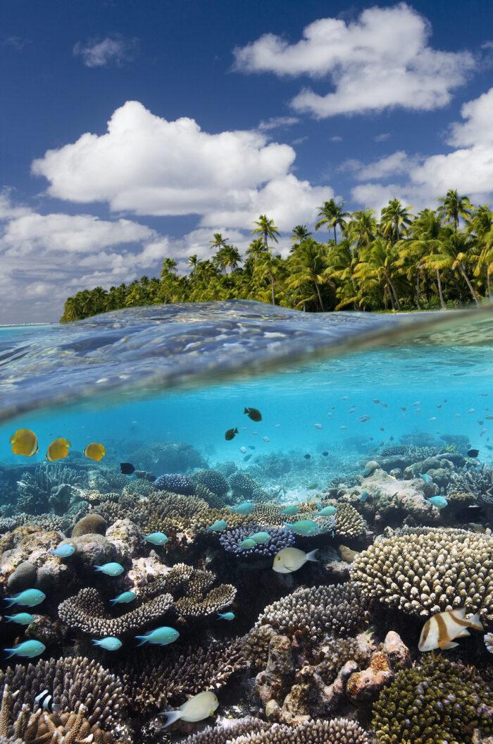 Aitutaki Lagoon in Cook Islands photo via Depositphotos