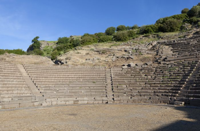 Amphitheater in Troy Turkey. via Depositphotos