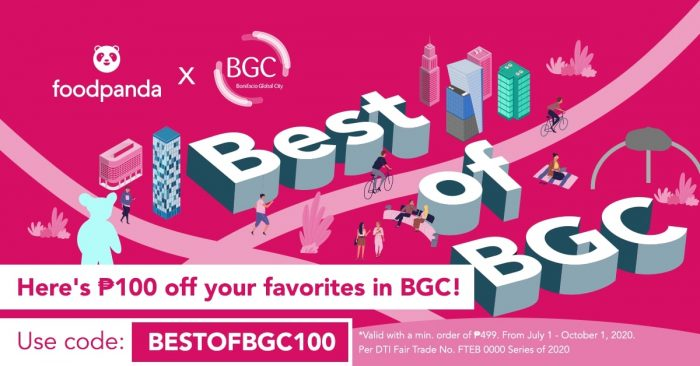 BGC x foodpanda coupon code