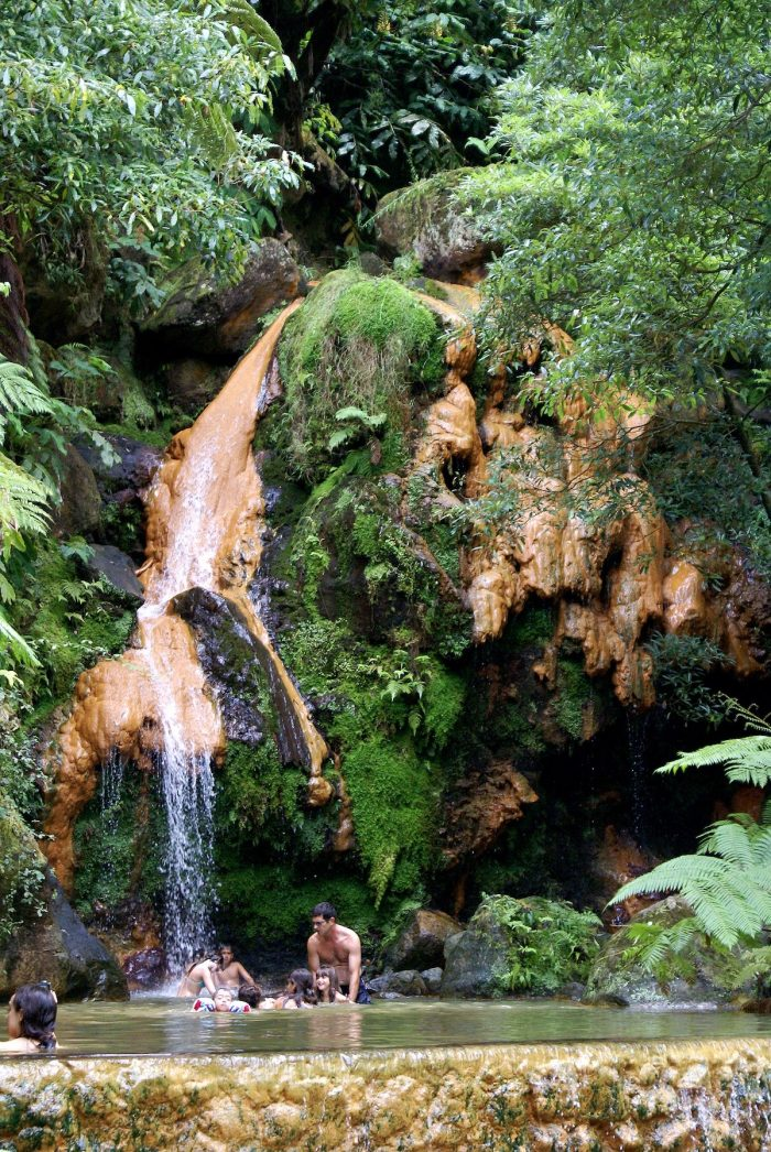Caldeira Velha in Azores Portugal by Jose Luis Avila Silverira via Wikipedia CC