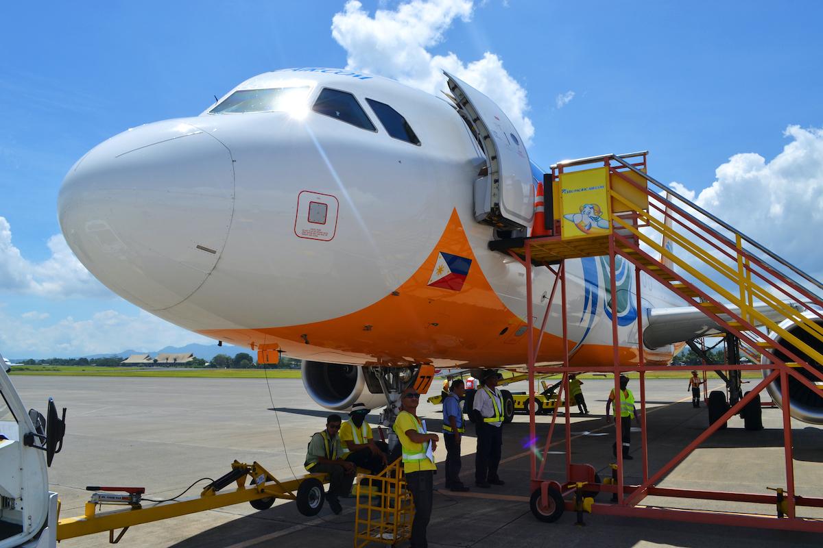 Cebu Pacific aircraft photo via Depositphotos.com