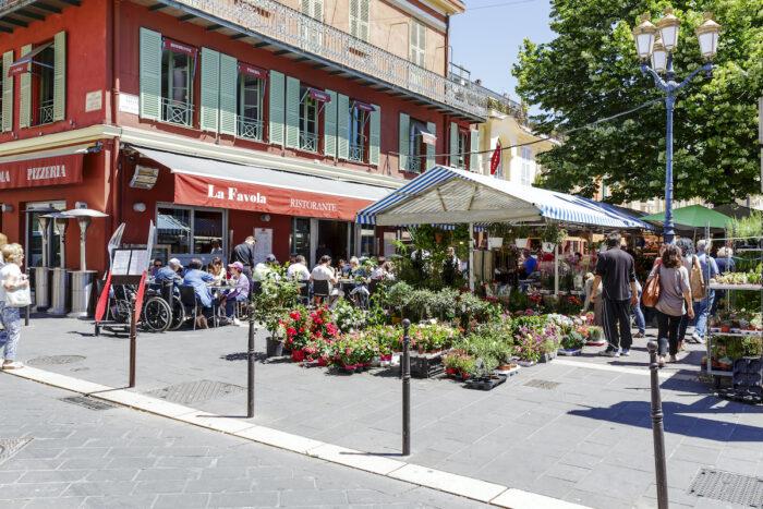 Cours Saleya in Nice, France photo via Depositphotos