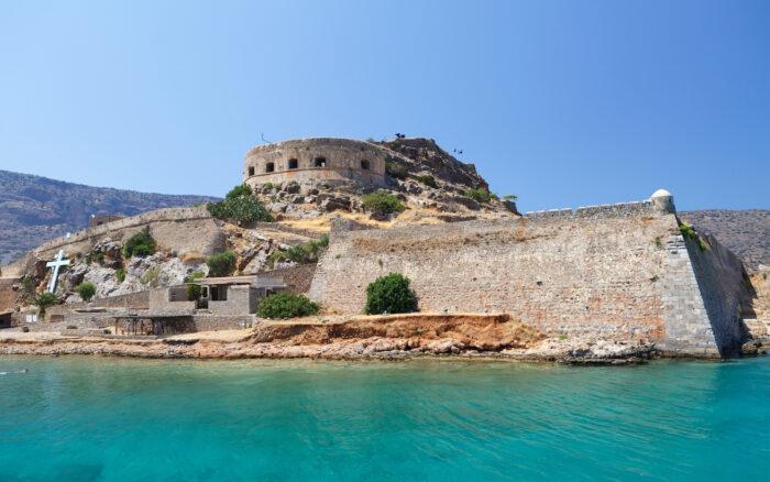 Crete Spinalonga Fortress via Deposit Photos