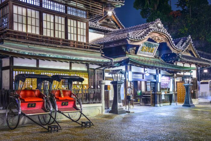 Dogo Onsen of Matsuyama, Japan photo via Depositphotos