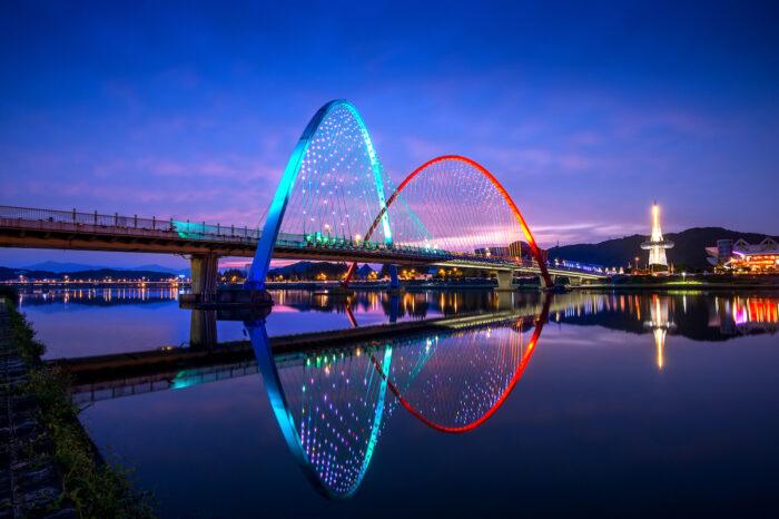 Expo Bridge in Daejeon, South Korea via Depositphotos