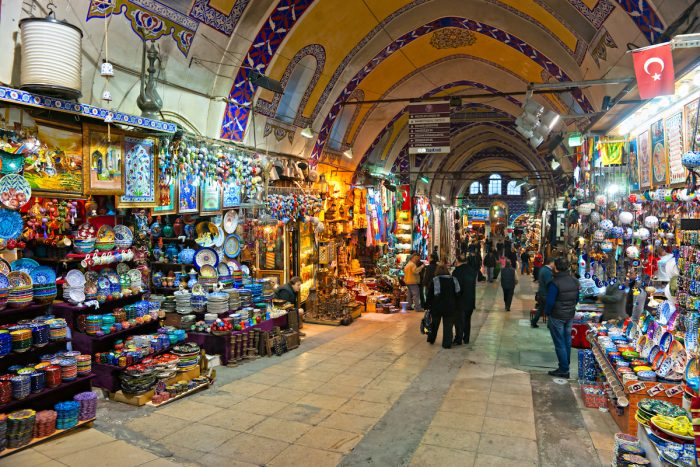 Grand Bazaar, considered to be the oldest shopping mall in history with over 1200 jewelry,carpet, leather,spice and souvenir shops. via Deposit Photos