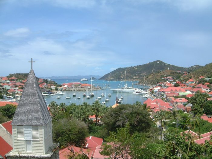 Gustavia Harbour photo via Wikipedia CC