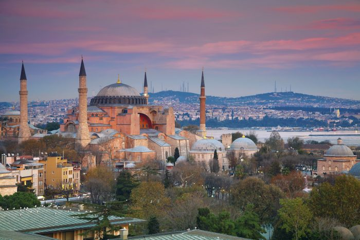 Hagia Sophia officially the Great Mosque of Ayasofya photo via Depositphotos